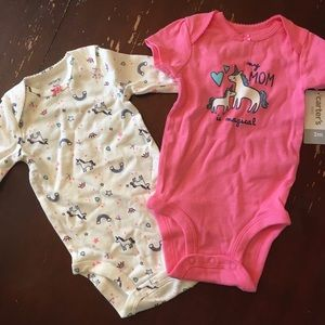 Carter's 2-pc baby girl outfits